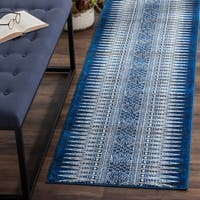 Safavieh Evoke Vintage Boho Chic Royal Blue/ Ivory Distressed Rug (2' 2 x 9')