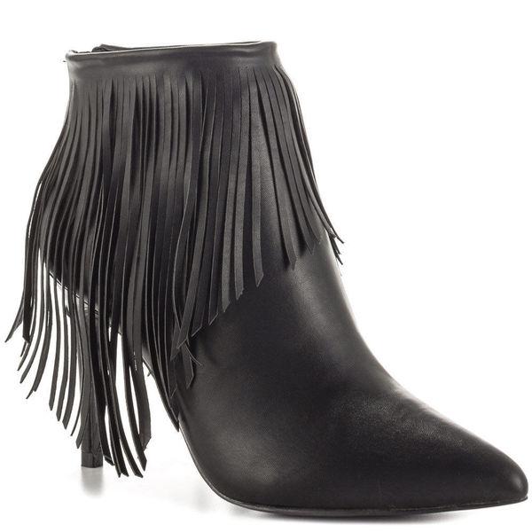 fd0669cf62 Shop LFL Lust for Life Shrine H88 Fringe High Heel Pointed Toe Ankle ...