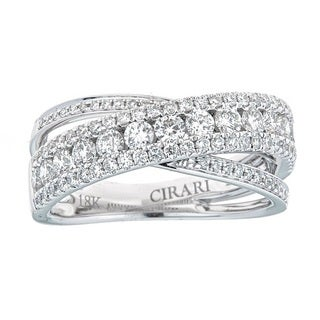 Anika and August 18k White Gold 1 1/5ct TDW Diamond Ring (G-H, SI1-SI2)