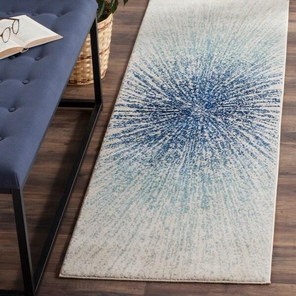 Safavieh Evoke Vintage Abstract Burst Royal Blue/ Ivory Distressed Rug - 2' 3 x 7'