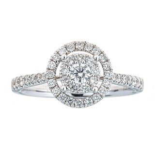 Anika and August 18k White Gold 5/8ct TDW Diamond Ring (G-H, SI1-SI2)