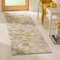 Safavieh Evoke Vintage Floral Grey / Gold Distressed Rug - 2'2 x 7'