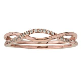 10K Rose Gold 1/10ct TDW Diamond Stackable Ring by Ever One|https://ak1.ostkcdn.com/images/products/12931788/P19684428.jpg?impolicy=medium