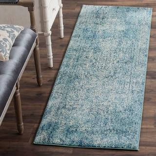 Safavieh Evoke Vintage Blue / Ivory Rug (2' 2 x 11')
