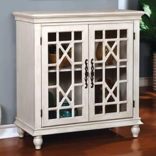 Furniture of America Briella Vintage Style Double-Door Floor Cabinet