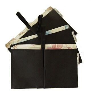 The Plaid Canvas and Fabric Floral Purse Organizer