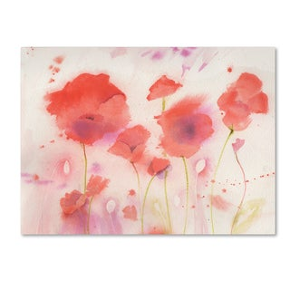 Sheila Golden 'Poppy Memory' Canvas Art