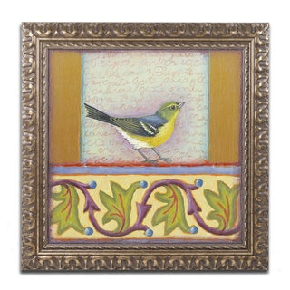 Rachel Paxton 'Small Bird 241' Ornate Framed Art