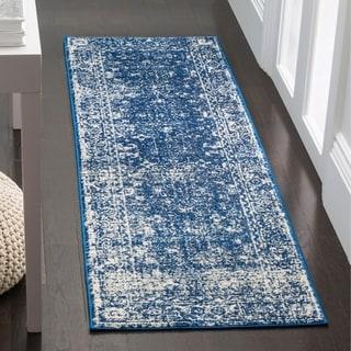 Safavieh Evoke Vintage Oriental Navy Blue/ Ivory Distressed Rug (2' 2 x 11')