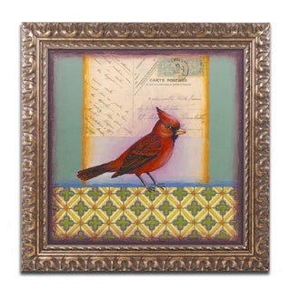 Rachel Paxton 'Cardinal' Ornate Framed Art