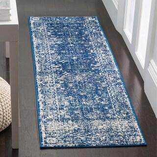 Safavieh Evoke Vintage Oriental Navy Blue/ Ivory Distressed Rug (2' 2 x 9')
