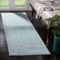 Safavieh Evoke Vintage Oriental Light Blue/ Ivory Distressed Rug (2' 2 x 9')