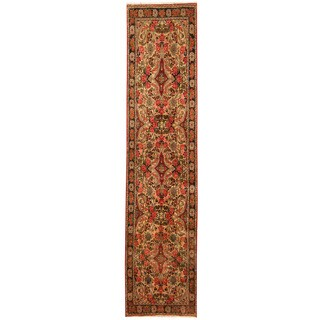 Herat Oriental Persian Hand-knotted Tribal Hamadan Wool Runner (2'9 x 12')