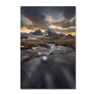 Mathieu Rivrin 'Power of Mountains' Canvas Art