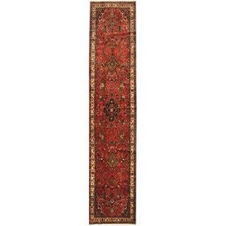 Herat Oriental Persian Hand-knotted Tribal Hamadan Wool Runner (2'8 x 12'7)