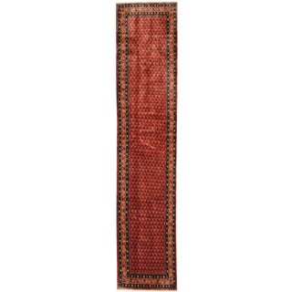 Herat Oriental Persian Hand-knotted Tribal Hamadan Wool Runner (2'7 x 12'5)