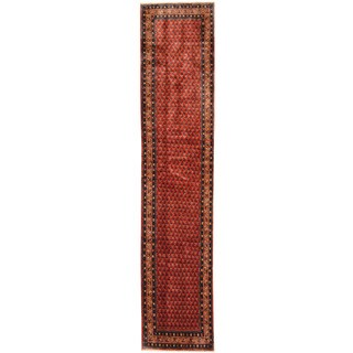Herat Oriental Persian Hand-knotted Tribal Hamadan Wool Runner (2'7 x 12'5) - 2'7 x 12'5