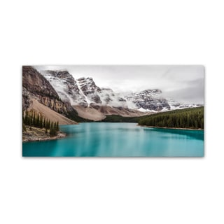 Pierre Leclerc 'Moraine Lake in the Clouds' Canvas Art