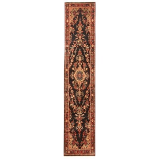 Herat Oriental Persian Hand-knotted Tribal Hamadan Wool Runner (2'8 x 13')