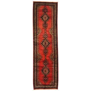 Handmade Herat Oriental Persian Tribal Hamadan Wool Runner (Iran) - 3'6 x 12'4