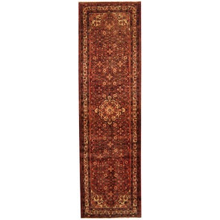 Herat Oriental Persian Hand-knotted Tribal Hamadan Wool Runner (3'8 x 12'9)
