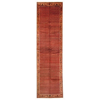Herat Oriental Persian Hand-knotted Tribal Hamadan Wool Runner (3'6 x 13')