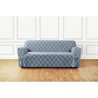 Sure Fit Lattice 1 Piece Slip Cover With Ties And Cord, Sofa Cover