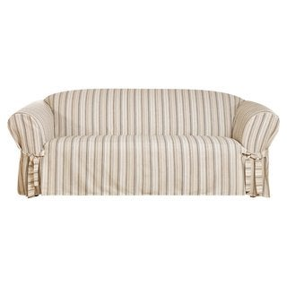 Sure Fit Seaside Stripe 1 Piece Sofa Slipcover