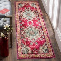 Safavieh Monaco Bohemian Medallion Pink/ Multicolored Distressed Runner Rug - 2'x 12'