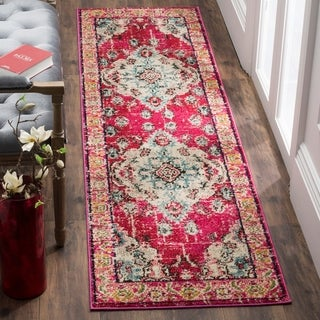 Captivating Safavieh Monaco Bohemian Medallion Pink/ Multicolored Distressed Runner (2u0027  2 ...