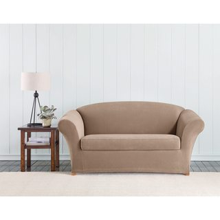 Sure Fit Stretch Corduroy Loveseat Cover