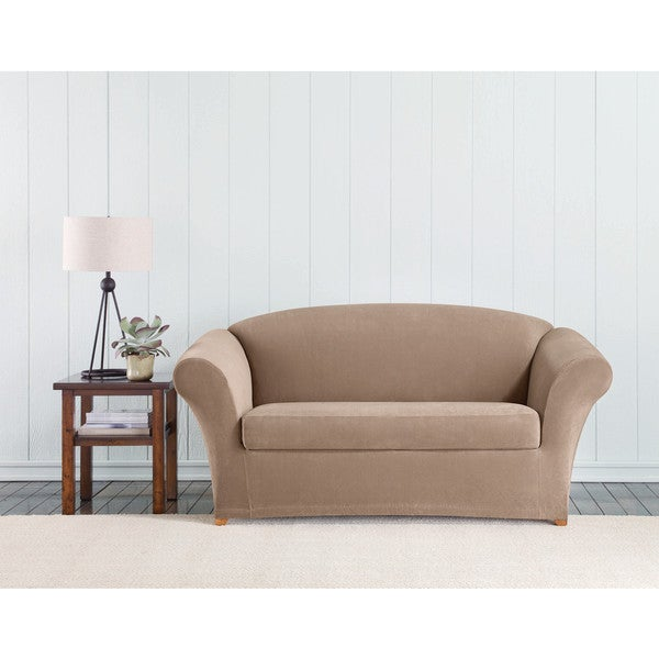 Sure Fit Stretch Corduroy Loveseat Cover Free Shipping Today 19684777