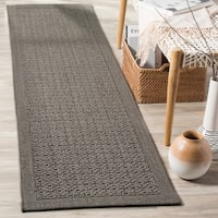 Safavieh Palm Beach Natural Fiber Ash Rug - 2' x 8'