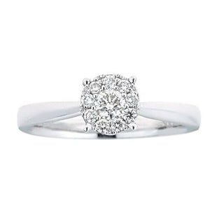 Anika and August 18k White Gold 1/3ct TDW Diamond Ring (G-H, SI1-SI2)