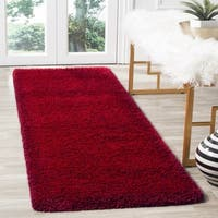 Safavieh Santa Monica Shag Red Runner Rug (2' x 7') - 2' x 7'