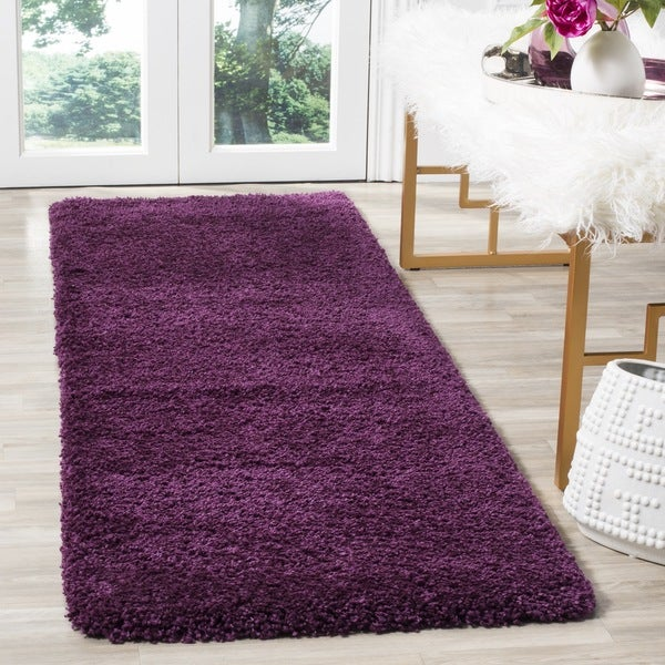 Safavieh Santa Monica Shag Purple Runner Rug (2' x 7')