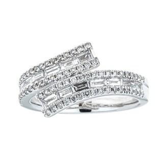 Anika and August 18k White Gold 7/8ct TDW Diamond Ring