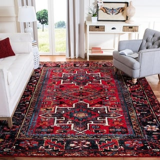 Safavieh Vintage Hamadan Red / Multicolored Runner Rug (2' x 8')