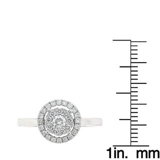 Anika and August 18k White Gold 1/2ct TDW Diamond Ring (G-H, SI1-SI2)
