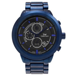 Territory Men's Multifunction Ion Plated Link Watch
