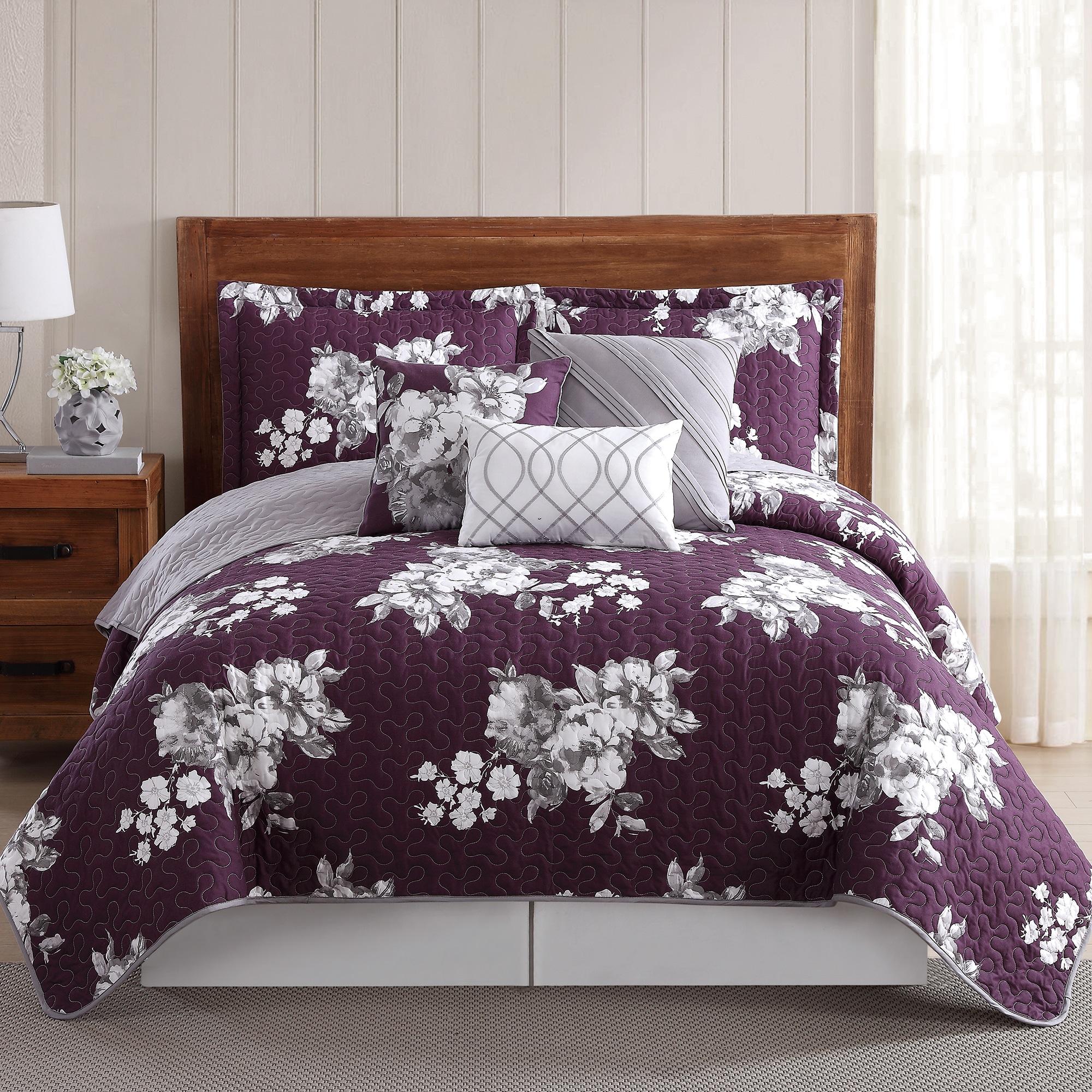 Peony Garden Floral Quilt 6-piece Quilt Set