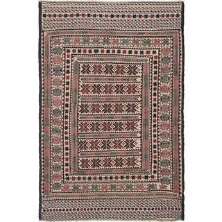 eCarpetGallery Multicolored Wool Handwoven Shiravan Sumak Rug (4'2 x 6'5)