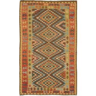 eCarpetGallery Hereke Multicolored Wool Hand-woven Kilim (4'11 x 8'2)