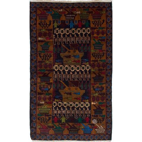 ecarpetgallery Hand-Knotted Rare War Wool Rug