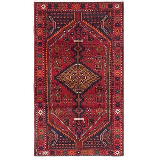eCarpetGallery Red Cotton/Wool Hand-knotted Hamadan Rug (3'8 x 6'4)
