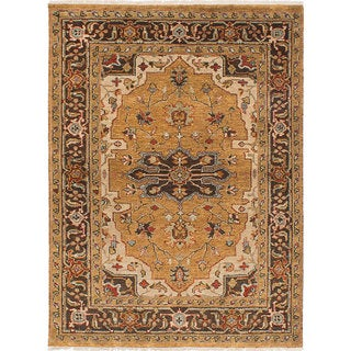 eCarpetGallery Hand-knotted Serapi Heritage Brown Wool Rug (5' x 6'10)