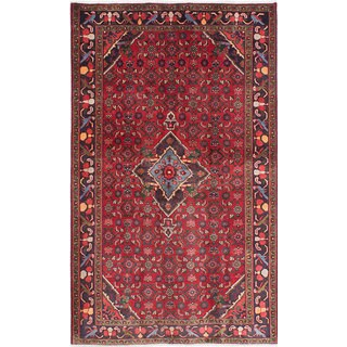 eCarpetGallery Red Wool/Cotton Hand-knotted Zanjan Oriental Rug (4'4 x 7'0)