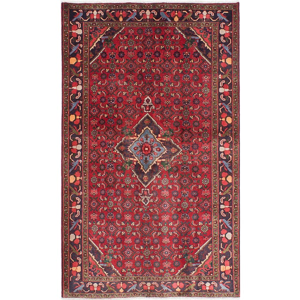 Shop Ecarpetgallery Hand Knotted Persian Kashan Red Wool: Shop ECarpetGallery Red Wool/Cotton Hand-knotted Zanjan
