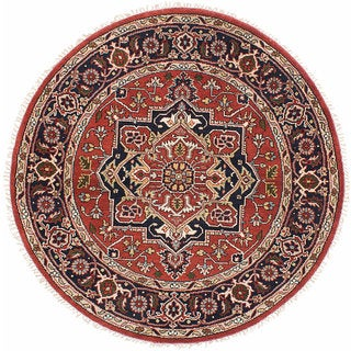 eCarpetGallery Oriental Serapi Heritage Brown Wool and Cotton Hand-knotted Area Rug (6' x 6')
