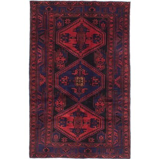 eCarpetGallery Zanjan Brown Wool Hand-knotted Rug (4'6 x 7'5)